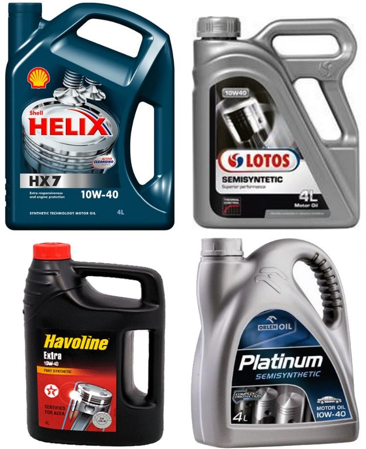 Oleje silnikowe półsyntetyczne