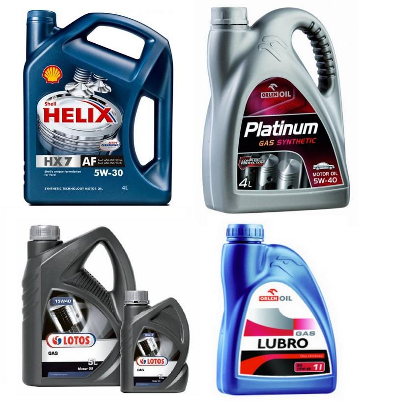 Oleje do silników zasilanych gazem